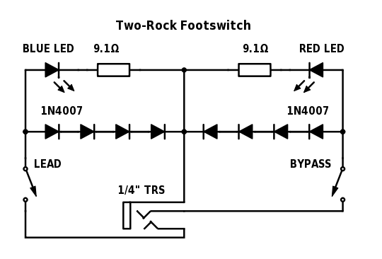 James David Low Play Two Rock Footswitch Schematic